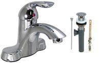 "4"" Chrome Single Handle Hybrid, Tall Bathroom Faucet (With Pop up)  Phoenix Brand"