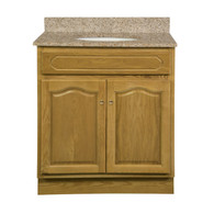 "Appalachian Oak Vanity - 30""W X 18"" D X 34.5"" H  - 2 Door"