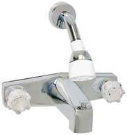 Mobile Home Faucet Tub/Shower Diverter Brass Compression Valve (Includes Shower Head Kit) Phoenix Brand