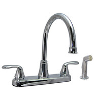"8"" Kitchen Faucet Chrome High Rise Faucet with Spray"