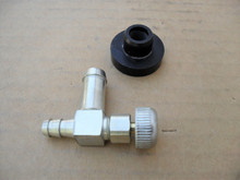 Toro Gas Fuel Shut Off Valve and Rubber Bushing 104047, 466560, 46-6560