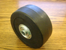 Front Wheel for Mclane and Craftsman Front Throw Reel Tiff Lawn Mower 1116, Solid Rubber with Bearings