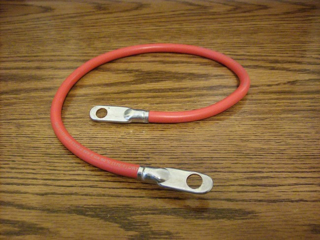 Red Battery Cable : Red positive battery cable quot long for lawn mower