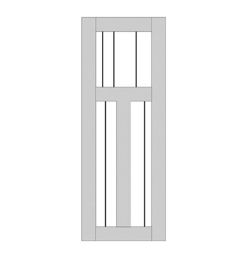 Single Rustic Wood Door (RS3000)