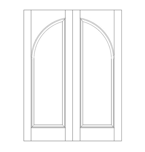 1-Panel Wood Door (DR1200CA)