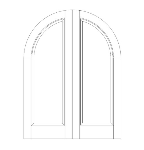 1-Panel Wood Door (DR1600CA)