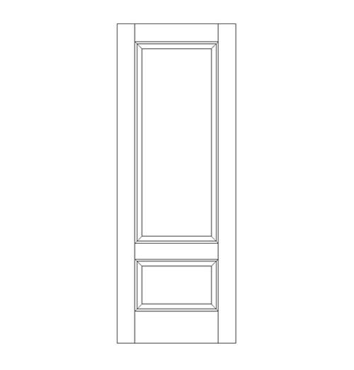 2-Panel Wood Door (DR2060)