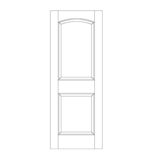 2-Panel Wood Door (DR2100)