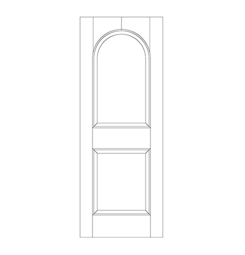 2-Panel Wood Door (DR2200)