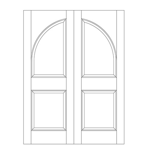 2-Panel Wood Door (DR2200CA)