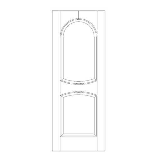 2-Panel Wood Door (DR2210)