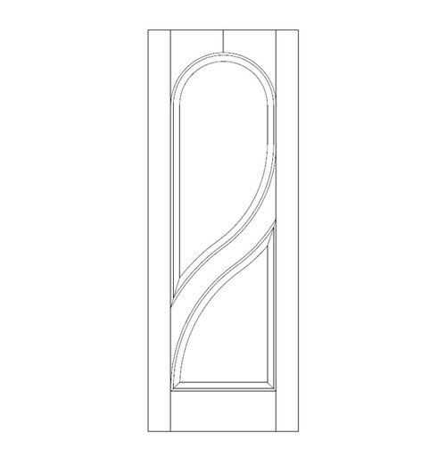2-Panel Wood Door (DR2220)