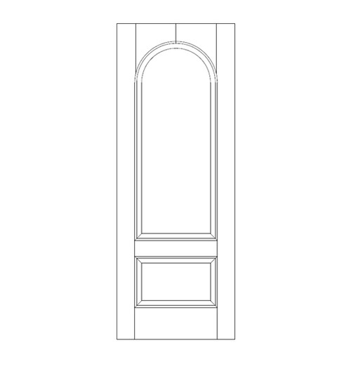 2-Panel Wood Door (DR2260)