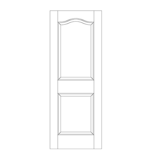 2-Panel Wood Door (DR2300)