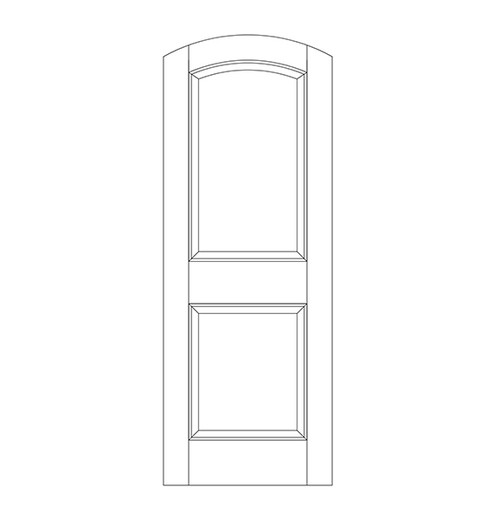 2-Panel Wood Door (DR2500)