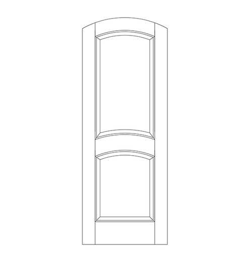 2-Panel Wood Door (DR2510)