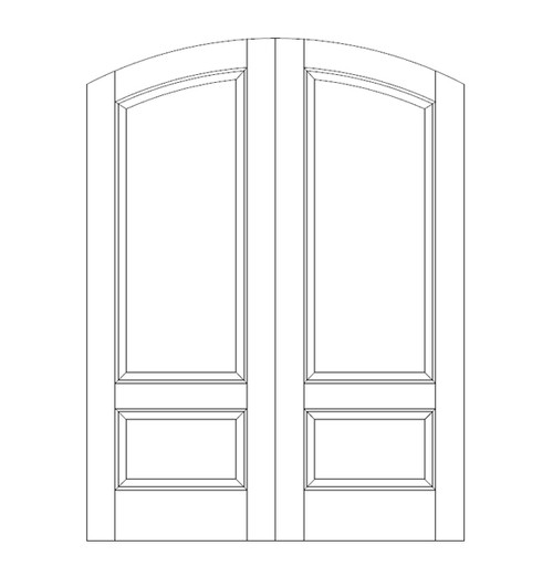 2-Panel Wood Door (DR2560CA)