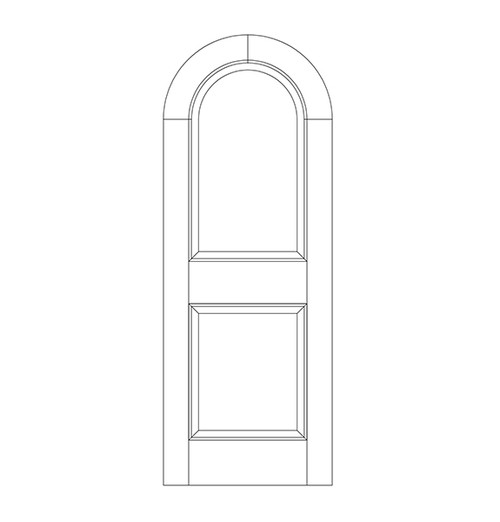 2-Panel Wood Door (DR2600)