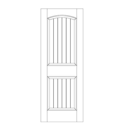 2-Panel Wood Door (DV2100)