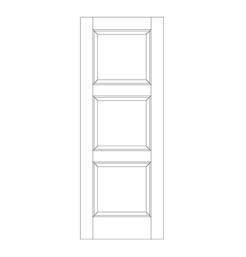 3-Panel Wood Door (DR3090)