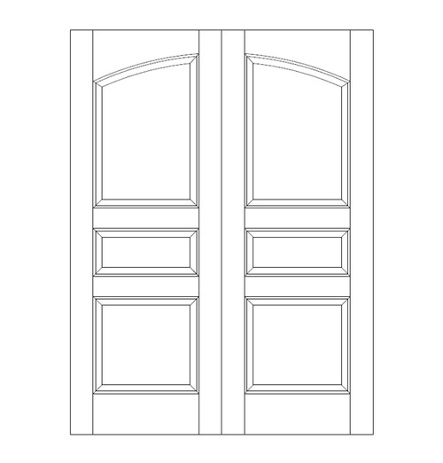 3-Panel Wood Door (DR3100CA)