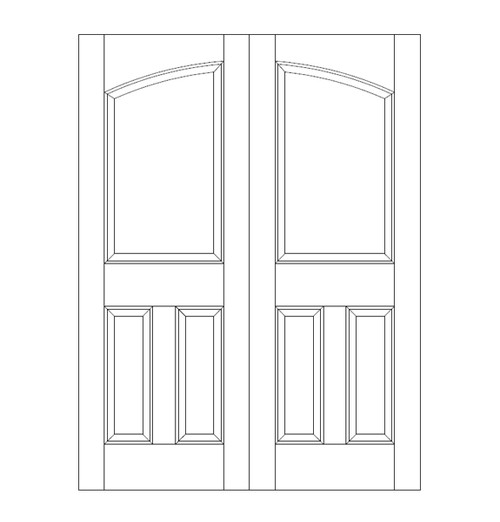 3-Panel Wood Door (DR3160CA)
