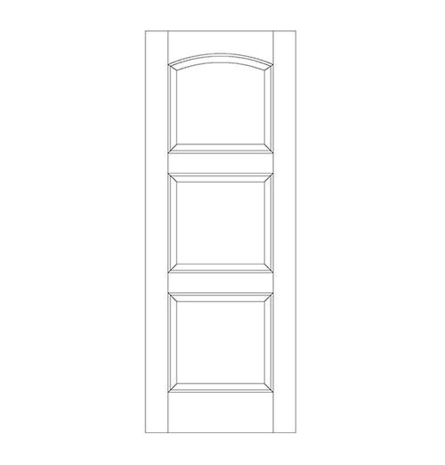 3-Panel Wood Door (DR3190)