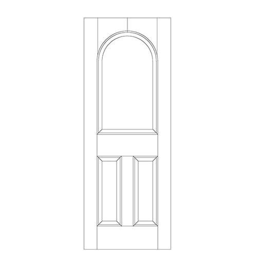 3-Panel Wood Door (DR3260)