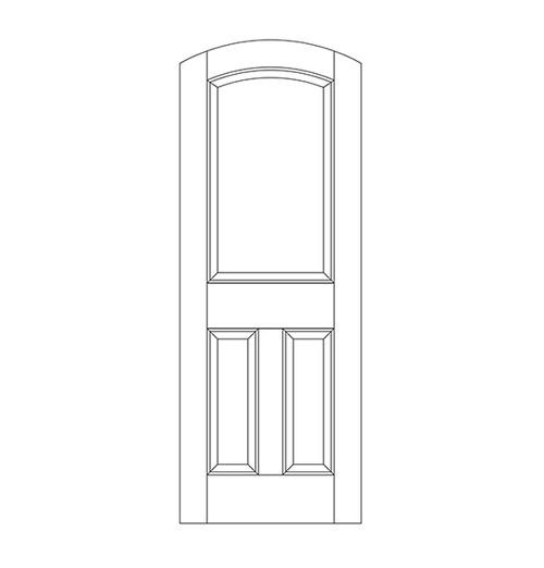 3-Panel Wood Door (DR3500)