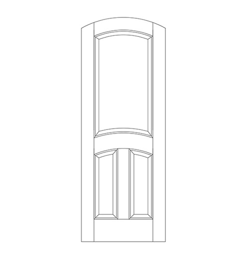 3-Panel Wood Door (DR3510)
