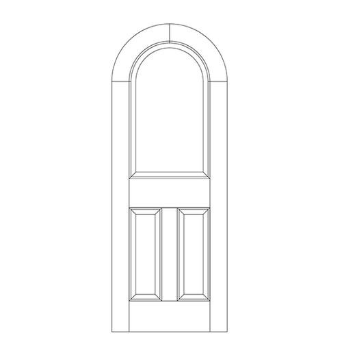 3-Panel Wood Door (DR3600)