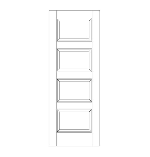 4-Panel Wood Door (DR4090)