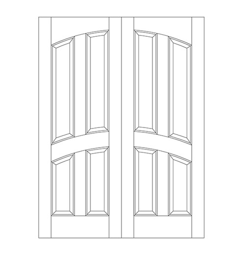 4-Panel Wood Door (DR4110CA)