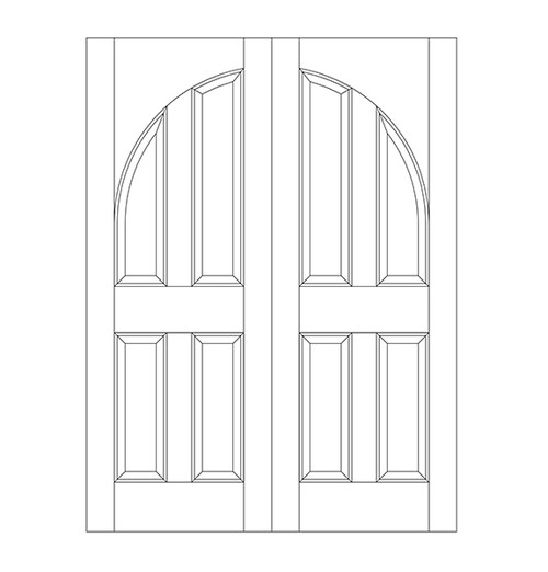 4-Panel Wood Door (DR4200CA)