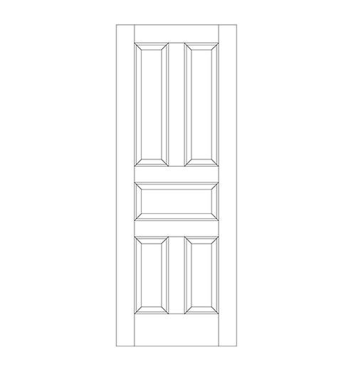 5-Panel Wood Door (DR5000)