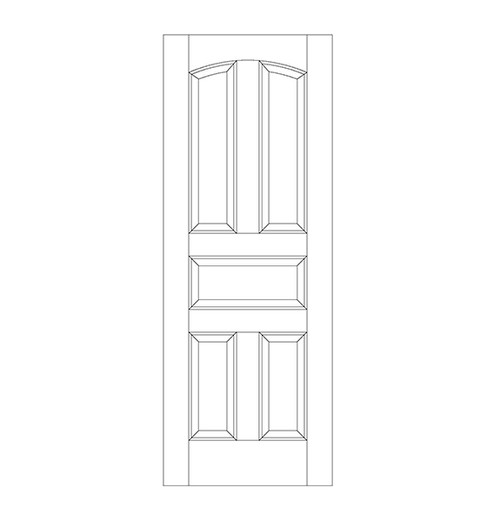 5-Panel Wood Door (DR5100)