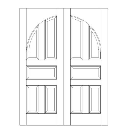 5-Panel Wood Door (DR5200CA)