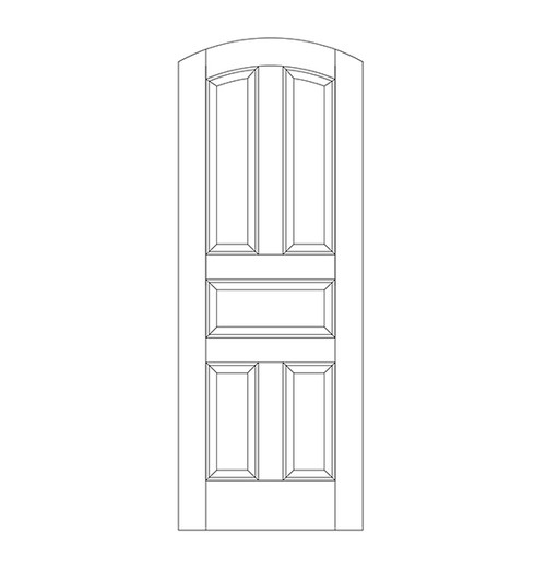 5-Panel Wood Door (DR5500)