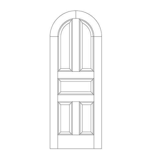 5-Panel Wood Door (DR5600)