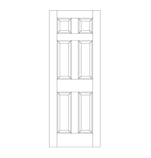 6-Panel Wood Door (DR6000)