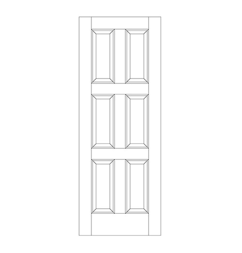 6-Panel Wood Door (DR6010)