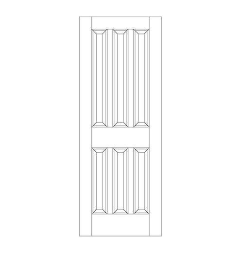 6panel wood door dr6020