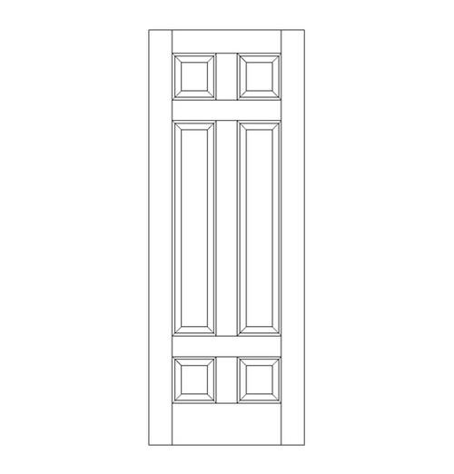 6-Panel Wood Door (DR6080)