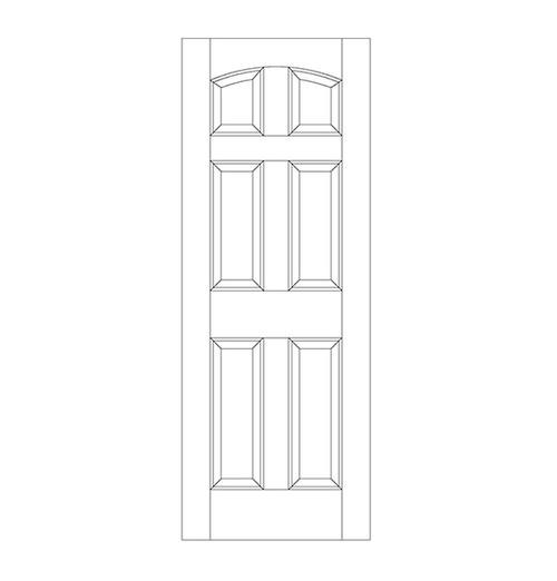 6-Panel Wood Door (DR6100)