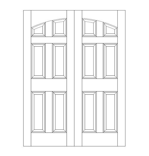 6-Panel Wood Door (DR6100CA)