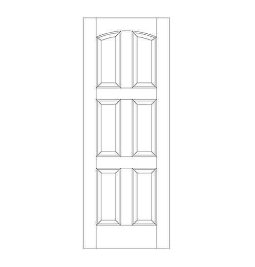 6-Panel Wood Door (DR6110)