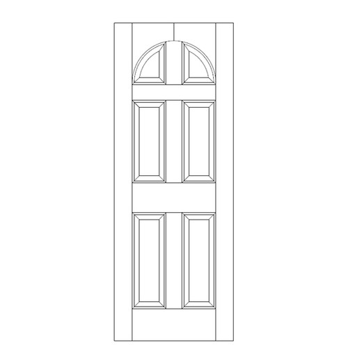 6-Panel Wood Door (DR6200)