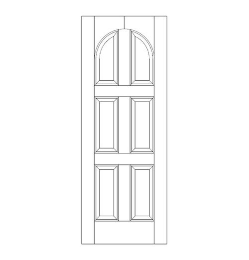 6-Panel Wood Door (DR6210)