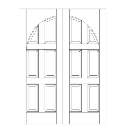 6-Panel Wood Door (DR6210CA)