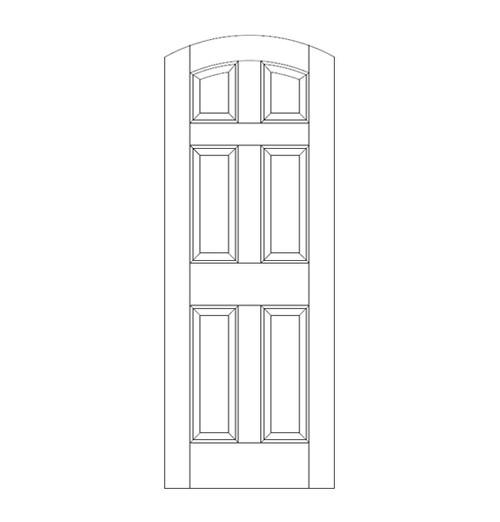 6-Panel Wood Door (DR6500)